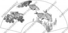 扇面鱼 线描图片高清大图46下载
