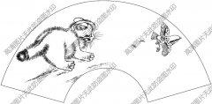 扇面猫 白描底稿高清大图67下载