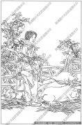 山村人物 白描底稿高清图片9下载